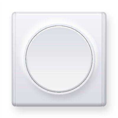 Белый выключатель одинарный E31301300