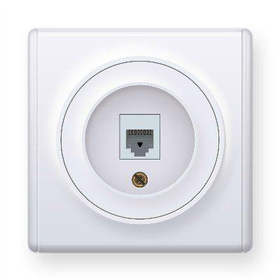 Розетка компьютерная 1xRJ45 кат.5e, цвет белый E20701300