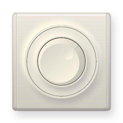 Бежевый светорегулятор 600 W для ламп накаливания и галогенных ламп E42001301