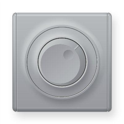 Серый светорегулятор 600 W для ламп накаливания и галогенных ламп E42001302
