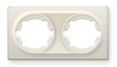 Рамка двойная, цвет бежевый E52201301