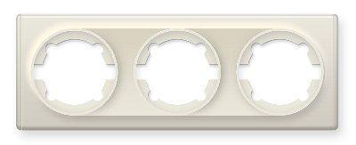 Рамка тройная, цвет бежевый E52301301