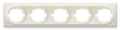 Рамка на 5 приборов, цвет бежевый E52501301