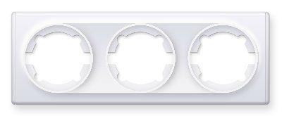 Рамка тройная, цвет белый E52301300