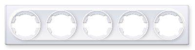 Рамка на 5 приборов, цвет белый E52501300