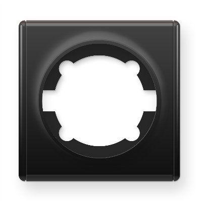 Рамка одинарная, цвет чёрный E52101303