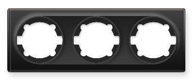 Рамка тройная, цвет чёрный E52301303