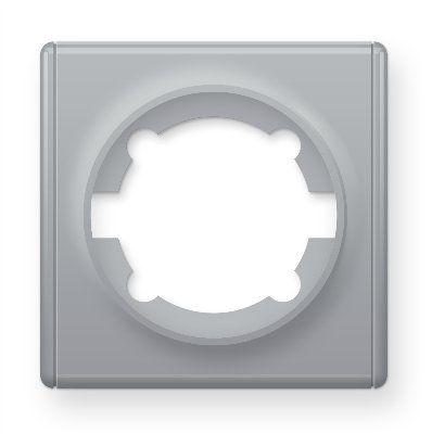 Рамка одинарная, цвет серый E52101302