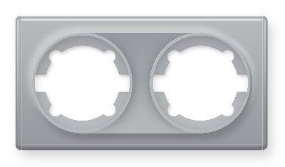Рамка двойная, цвет серый E52201302