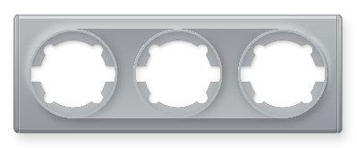Рамка тройная, цвет серый E52301302