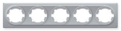 Рамка на 5 приборов, цвет серый E52501302