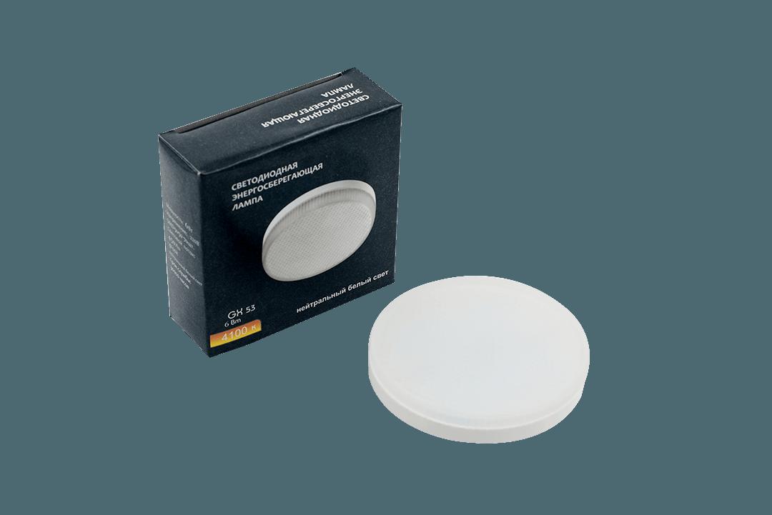 Лампа светодиодная серия GX53 6 Вт, цвет: Теплый белый
