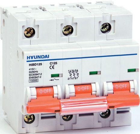 Выключатель автоматический модульный HIBD125 3PMCS0000C 00125 , 3Р, «С», 125А, 10кА