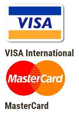 Мы принимаем к оплате пластиковые карты следующих международных платежных систем: