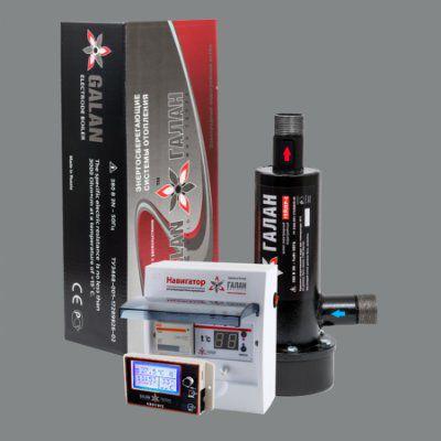 Гейзер 9 / Навигатор Базовый / Комфорт GSM - Комплект электродного отопительного котла с удаленным управлением GSM