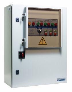 Шкафы управления ГРАНТОР для дренажных, канализационных насосов и систем наполнения
