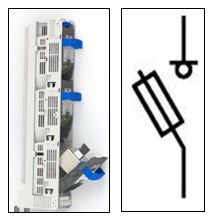 Предохранитель-выключатель-разъединитель Шлюз 2-1П-ШК