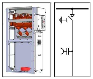 Ячейка КСО типа RK с выключателем нагрузки