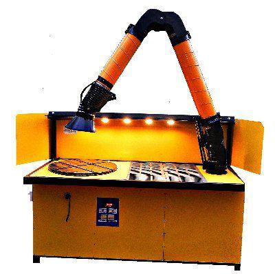 Стол сварщика поворотный с функцией подъема рабочей плиты и самоочисткой воздуха. (Сменный фильтр)