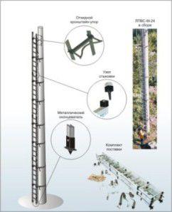 Лестница приставная вертикальная cтеклопластиковая модульная ЛПВС-М-21