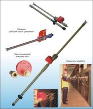 Указатель напряжения контактного типа с комбинированной индикацией без встроенного источника электропитания «Экивольта 6-10 КУ»