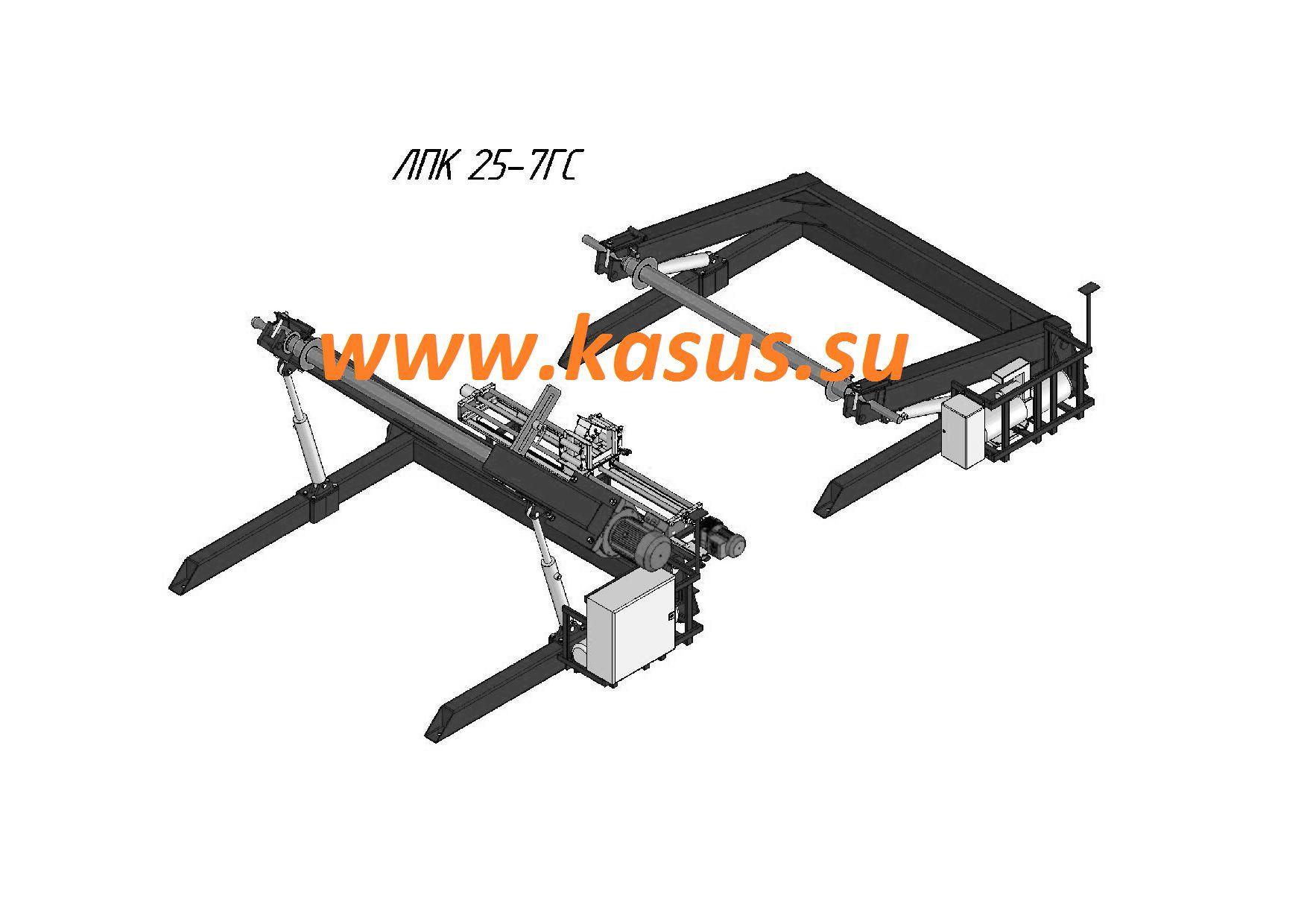 Линия перемотки кабеля ЛПК 25-7ГС