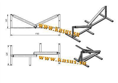 Ролик монтажный (кабельный) выпускающий РВ 700М