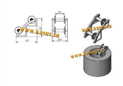 Ролик монтажный (кабельный) угловой РСИКЛ