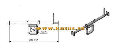 Ролик кабельный линейный на штанге – ZR 220