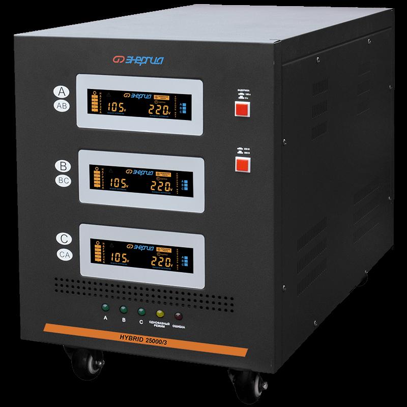 Стабилизатор напряжения Энергия Hybrid 25000/3