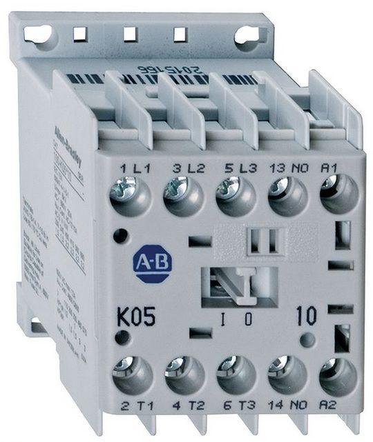 Контактор 4 кВт, 9A,  230V AC, 1NC, 100K09KF01, Allen Bradley, в наличии