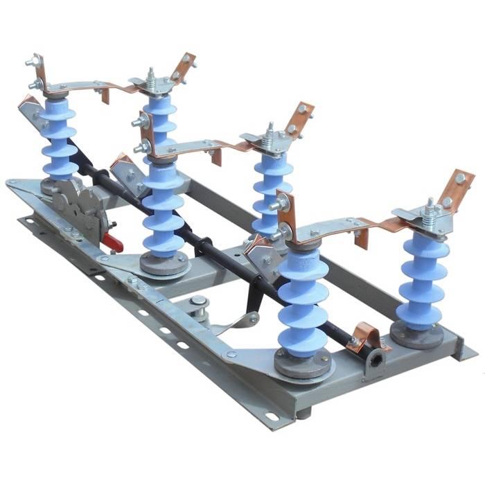 Разъединитель РЛНД-1-10.IV/400 УХЛ1 (3-х полюс.) на полимерных изоляторах