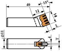 Гребенки алмазные (ТУ 2-037-230-87) ИП-123 (0,30 кар.)