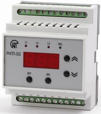 Реле напряжения, перекоса и последовательности фаз РНПП-302