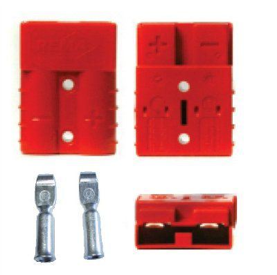 электроразъём SR 50 для З/У и аккумулятора (к японской технике) Цвета-серый, красный