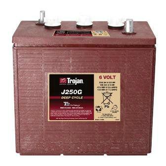 Тяговые аккумуляторные батареи TROJAN-J250G(жидкий электролит)6В 235/195