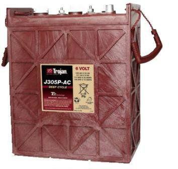 Тяговые аккумуляторные батареи TROJAN-J305P(жидкий электролит)6В 271/330