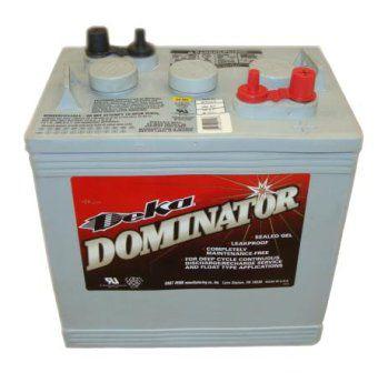 Герметизированные тяговые аккумуляторные батареи Deka 8GGC2 6В 180А/ч