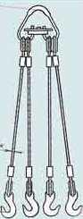 Стропы канатные 4СК-четырёхветвевые (паук) 1,0м 1,5т