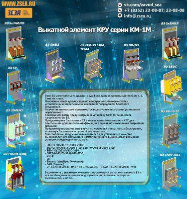 Выкатной элемент для КРУ серии КМ-1М от производителя не дорого