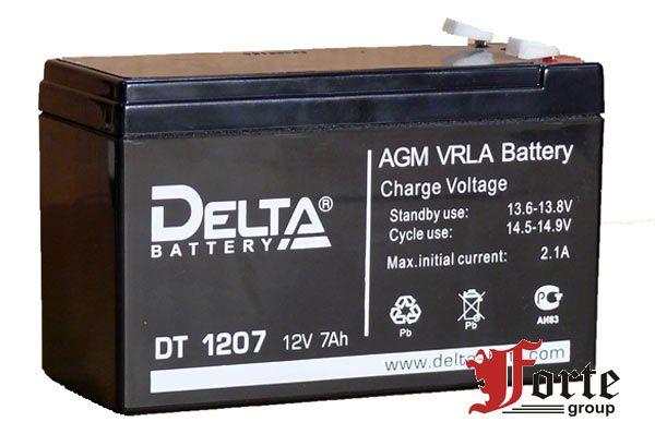 Аккумулятор для охранной пожарной сигнализации (ОПС). Delta DT 1207