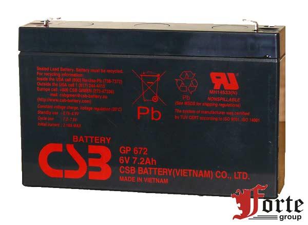 Аккумулятор для ИБП (UPS) CSB GP 672
