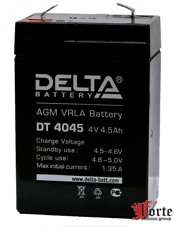 Аккумуляторы 4 вольта Delta DT 4045