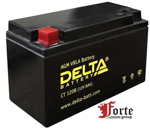 Аккумуляторы для мото. стартерные Delta Battary CT 1208