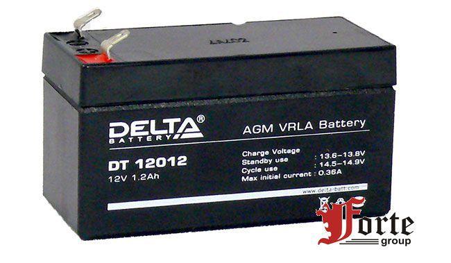Аккумулятор для ККМ (кассовых аппаратов) и ОПС Delta DT 12012