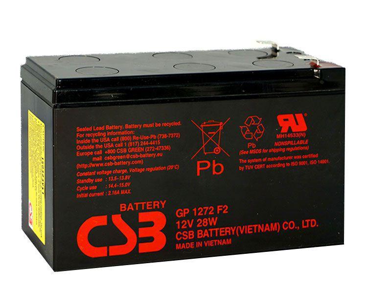Аккумулятор для ИБП (UPS) CSB GP 1272 F2 (28w)