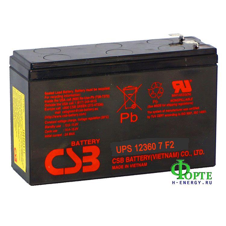 Аккумулятор для ИБП (UPS) CSB Battery Co. UPS 123607 F2