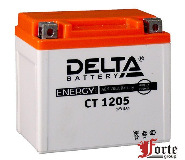 Аккумуляторы для мото стартерные Delta Battary CT 1205