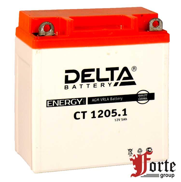 Аккумуляторы для мото стартерные Delta Battary CT 1205.1