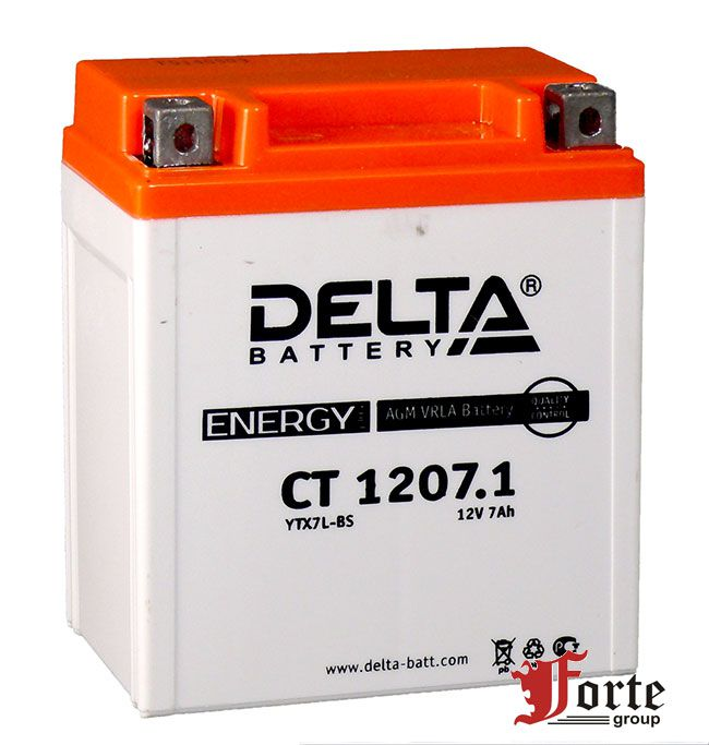 Аккумуляторы для мото. стартерные Delta Battary CT 1207.1